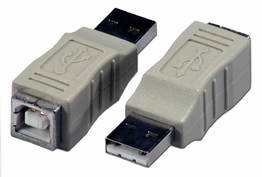 USB 2.0 Type A Male to USB Type B Female Coupler Gender Changer Adapter
