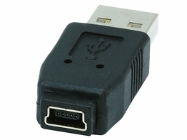 USB 2.0 Type A Male to USB Type Mini B 5 Pin Female coupler adapter