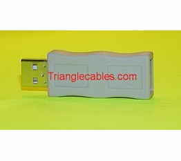 USB Type A Male to USB Type A Female Port Saver