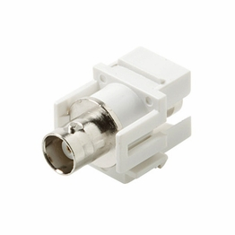 White Keystone Modular Insert BNC Type Connector Female Female