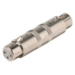 XLR 3 Pin Female to XLR 3 Pin Female Gender changer barrel coupler 3C