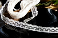 """1/2"""" Off White Vintage Lace Edging"""
