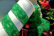 "1 3/8"" Green Lace Trim #lace-129"
