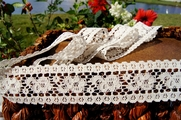 "1-5/8"" Light Beige Vintage Floral Lace Trim"