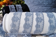"1"" Blue Floral Lace Trim #lace-133"