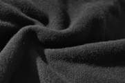 100% Black Wool Fleece Fabric WL-313