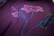 13 yards Plum Floral Print Knit Fabric