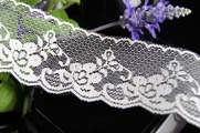 "2-1/2"" Ivory Scalloped Floral Vintage Lace Trim"