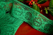 "2"" Green Vintage Lace Trim"