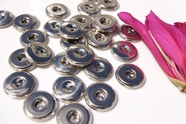 "2 Hole Silver Vintage Fashion Buttons 3/4"" inch (10 pcs)"