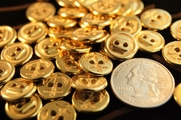 "2 Hole Vintage Anchor Gold Buttons 9/16"" inch (12 pcs)"