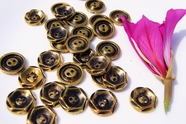 "2 Hole Vintage Antique Gold Buttons 3/4"" inch (10 pcs)"