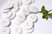"2 Hole White Buttons 1"" inch (10 pcs)"