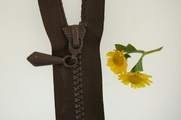 "20"" Dark Brown Separating Zipper"