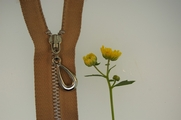 "22"" Natural Beige Separating Metal Zipper"