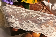 "3 1/2"" Ivory Floral Scalloped Lace Trim #lace-87"
