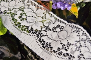 "3-1/2"" Off White Vintage Floral Soft Lace Trim"