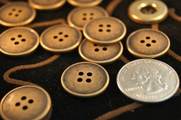 "4 Hole Vintage Metal Buttons 3/4"" inch (8 pcs)"