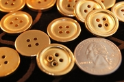 "4 Hole Vintage Metallic Gold Buttons 3/4"" inch (10 pcs)"