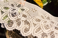 "4"" Beige Cream Floral Lace Trim"