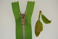 "5"" Bright Green Heavy Metal Zipper"