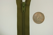 "7"" Olive Green Zipper"