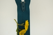 "8"" Peacock Green Zipper"