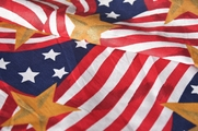 American Flag Prints Fabric # UU-263