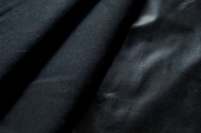 Black Cotton Woven Fabric with Plastic Backing # UU-375