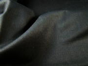 Black Smooth Woven Cotton Fabric #NV-241