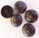 Brown Leather Look Shank Buttons (8 pcs)