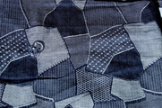 Cotton Chambray Ivory Denim Pattern Fabric # UU-261