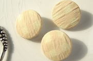 "Cream Beige Vintage Gingham Plaid Fabric Buttons 1"" inch (15 pcs)"