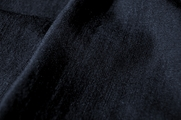 Dark Navy Black Linen Blend Fabric # UU-360