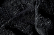 Designer Novelty Striped Black Open Weave Knit Fabric # UU-190