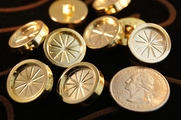 "Fashion Plastic Gold Shank Buttons 3/4"" inch (15 pcs)"