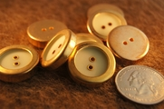"Gold Rim Vintage 2 Hole Buttons 7/8"" inch (12 pcs)"