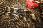 Heavy Weight Discount Upholstery Fabric Black, Tan and Grey Texture Design 14 yards