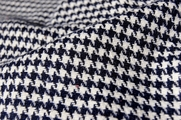 Houndstooth Wool Flannel - Navy Off White # UU-750