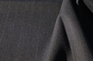 "Italian 1-1/8"" Pinstriped Grey Wool Suiting Fabric WL-43"