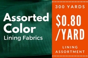 Lining Assortment 300 yards
