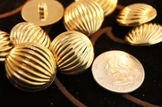 "Metallic Gold Vintage Fashion Dome Buttons 7/8"" inch (12 pcs)"