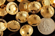 "Metallic Gold Vintage Shank Fashion Buttons 3/4"" inch (10 pcs)"