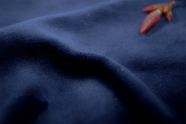 Midnight Blue Soft Cotton Velour Knit Fabric 13 yards