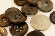 "Mother of Pearl Buttons Vintage 4 Holes 7/8"" inch (6 pcs)"