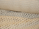 Natural White Pure Cotton Mesh Knit Fabric 1 yard