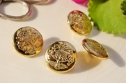 "Vintage Metallic Gold Shank Royal Buttons 7/8"" inch (8 pcs)"