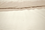 Pure White Novelty Cotton Pleated Fabric # K-212