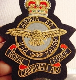 Royal Canadian Air Force Military Vintage Bullion Crest Patches
