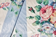 Scotchgard Cotton Drapery Striped Floral Prints